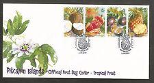 PITCAIRN ISLANDS 2001 TROPICAL FRUIT FDC SG,591-594 LOT 4591A