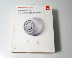 NEW SEALED Honeywell Home CT87K The Round Non-Programmable Thermostat White