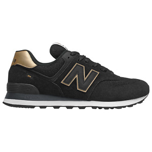 NEW BALANCE 574 MEN's CASUAL SHOE BLACK - YELLOW AUTHENTIC NEW IN BOX US SIZE