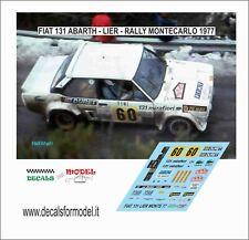 DECALS 1/43 FIAT 131 ABARTH LIER RALLY MONTECARLO 1977