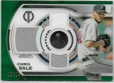 2019 Topps Tribute Chris Sale RED SOX Triple Jersey Relic /99