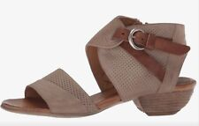 Miz Mooz Chatham Sandals In Pebble Grey Leather, Wm Sz 36
