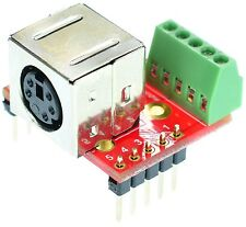 Mini Din 5 Female connector Breakout Board, adapter, eLabGuy mDIN5-F-BO-V1A
