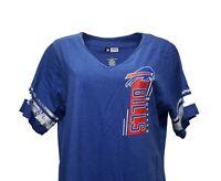 Buffalo Bills NFL Team Apparel Blue Notched V-Neck T Shirt Womens Plus Size, nwt
