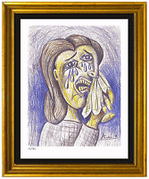 """Pablo Picasso Signed/Hand-Numbered Ltd Ed """"Weeping Woman II"""" Print (unframed)"""
