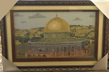 Islamic Muslim frame Dome of the Rock/ Tapestry with mirror / Gift / Home Decor