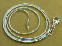 High Q SILVER SNAKE CHAIN NECKLACE 18inch - 46cm 1.3 mm