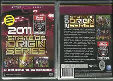 2011 SERIES STATE OF ORIGIN NRL RUGBY LEAGUE ALL 3 GAMES PACK NEW 3 DVD SET