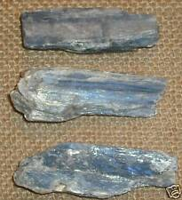 Kyanite BLU cristallo grezzo naturale BLADE 30 - 40 mm X3!!
