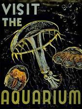 Visita ACQUARIO Creature Marine Meduse Bolle Arte Poster Stampa cc6096