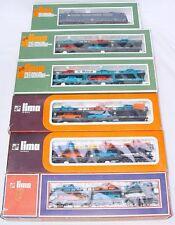 Lima HO DB BR E-410 LOCOMOTIVE & 5x MERCEDES-BENZ CAR TRANSPORT WAGON TRAIN MIB!