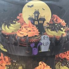 Halloween Cupcake Stand 3 Tier Holds 24  Good Cook Sweet Creations Bats Ghosts