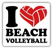 I Love Beach Volleyball Car Bumper Sticker Decal 5'' x 5''