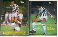 MAXI POSTER HURRA JUVENTUS RAVANELLI BAGGIO 1993 POSTER DOPPIO 60X85