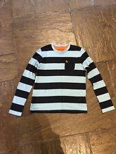Abercrombie Kids Age 15/16 Long Sleeved Top Blue Stripe GC