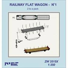 RAILWAY FLAT WAGON - no1 (2 to a pack)