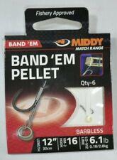 "MIDDY Fishing Band 'Em Pellet Hooks-to-Nylon (12"")  6.1lb barbless Hook Size: 16"
