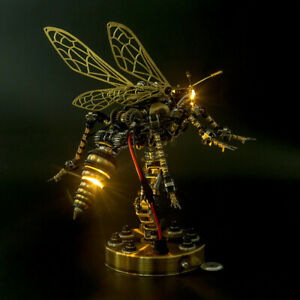 3D Mechanical Insect Wasp Handicrafts Metal Art Sculpture Figurine Voice Control