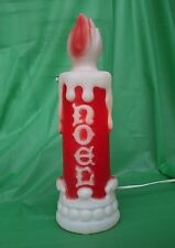 Vintage Christmas Blow Mold NOEL Candle by Empire Lighted Plastic Display Nice