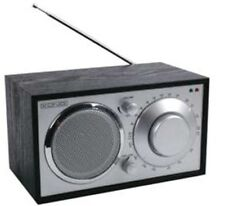 KÖNIG RETRO NOSTALGIE WOODEN KITCHEN RADIO BLACK ** NEW & BOXED **