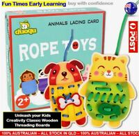 Kids Toddler Threading Toy Lacing Toy Educational Sensory Kids Activity Game AU