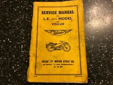 1971 VELOCETTE LE Mark III 3 Mk3 MKIII & VOGUE SERVICE INSTRUCTION MANUAL