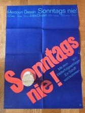 Sonntags nie (Kinoplakat ´65) - Melina Mercouri / Jules Dassin