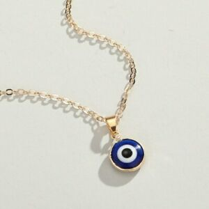 Lucky Turkey Evil Eye Charm Pendant Necklace Women Gold Chain Jewelry Gift Hot