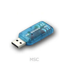3D VIRTUAL 5.1 CHANNEL PC SOUND CARD PLUGS IN TO USB 2.0 SLOT EXTERNAL