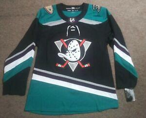 Size 46 New Adidas Anaheim Mighty Ducks Hockey Jersey 25th Anniversary RARE