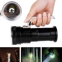 10000lm XM-L T6 rechargeable Flashligh 18650 Aluminium poche Lampe torche DC AT