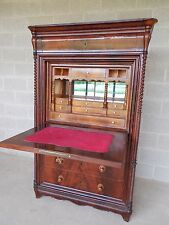 Antique Mahogany Drop Front Abbatant Secretary Desk