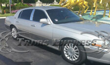 "2003-2011 Lincoln Town Car L 12Pc Rocker Panel Molding Trim 9""FL Stainless Steel"