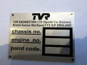 Id Nameplate Tvr 2500 s48