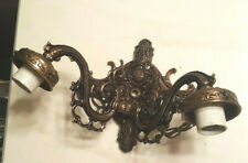 Vintage Antique Wall Sconce Double Light Fixture * Medieval Gothic Candelabra