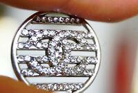 Authentic Chanel Buttons 1 pieces white  20 mm 0,8 inch💋emblem logo cc