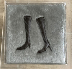 PAPYRUS Handmade Card Black Boots on Gray Fur Rug