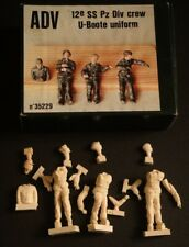 1/35 ADV/ Azimut 12th SS Pz Div tank crew in U-boot uniforms resin figures (4)