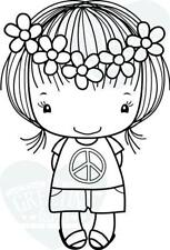 PEACE-The Greeting Farm Cling Rubber Stamp-Stamping Craft-Hope & Grace-RETIRED
