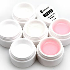 Set de 6 Cajas 1/2 Oz UV Gel para Uñas de Gel Blanco / Rosado / Transparente