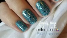 Color Street BLUE LAGOON (Blue Green Turquoise Glitter Sheer Holiday Winter)
