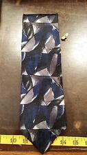 Croft & Barrow Blue Black Abstract Silk Designer Mens Necktie Free Shipping