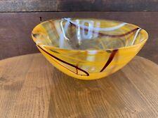 Kosta Boda Sweden Orange Swirl Vase Anna Ehrner Scandinavian Glass