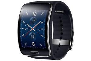 Genuine Samsung Galaxy gear S SM-R750 Curved AMOLED Smart Watch Black Wi-Fi