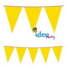 FESTONE BANDIERINE Plastica gialle 8 m Addobbi festa compleanno bambini