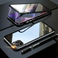 Magnetische Absorption Hülle für iPhone 11 Pro Max, doppelseitig gehärtetes Gla
