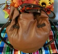 "Women's Super Cool Large Brown Leather ""THE SAK"" Designer Shoulder Bag Purse"