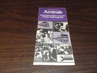 APRIL 1976 AMTRAK CHICAGO TO WEST COAST TRAINS PUBLIC TIMETABLE