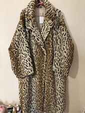 BNWT H&M TREND Long Leopard Ocelot Faux Fur Coat M Very Oversized Fits L 14 16