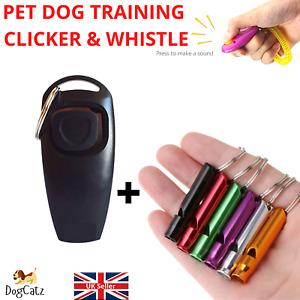 Dog Clicker Whistle Training UK, Pet Puppy Cat, Train Recall, Stop Barking,